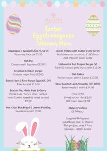 Easter Takeaway Menu